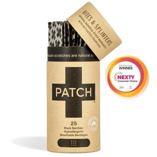 PATCH - Kompostovateľné Bambusové Náplasti s Aktívnym Uhlím 25 ks
