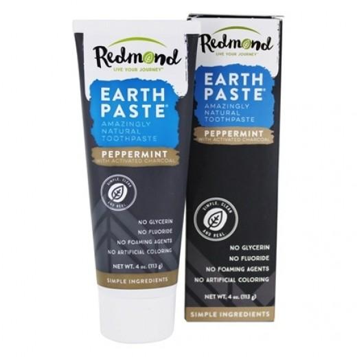 REDMOND - Zubná pasta s Bentonitovým ílom, MÄTOU a AKTÍVNYM ČIERNYM UHLÍM 113ml