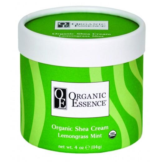 ORGANIC ESSENCE SHEA CREAM - Regeneračný telový balzam s vôňou citrónovej trávy a mäty - Vzorka 10g