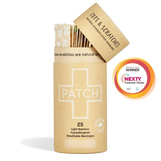 PATCH - Kompostovateľné Bambusové Náplasti Natural 25 ks