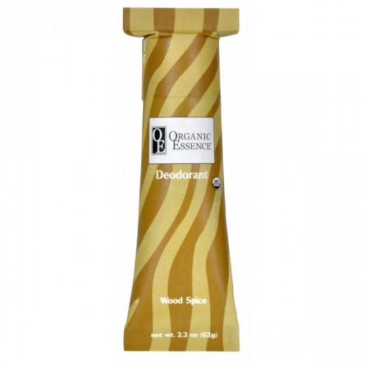 ORGANIC ESSENCE WOOD SPICE DEODORANT -  BIO Dezodorant s orientálnou vôňou PAČULI, KLINČEKA a POMARANČA Obsah: 62g