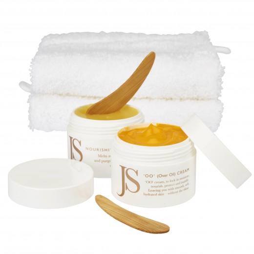 JANE SCRIVNER Dreamy Skin Duo - NOURISHING CLEANSER a OO CREAM - Sada Čistiaci balzam a Ochranný hydratačný krém