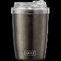 LURCH - Izolačný hrnček Coffee-To-Go 0,3 l s priehľadným viečkom Anthracite