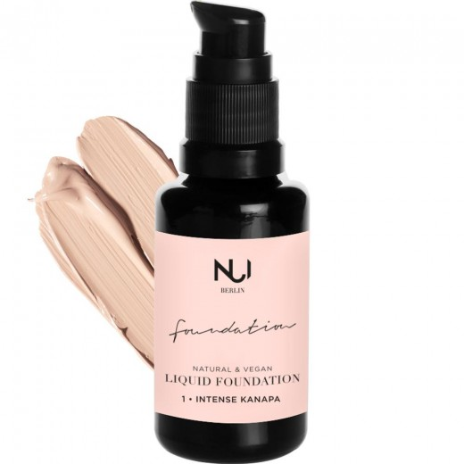 NUI COSMETICS - Prírodný Tekutý Makeup s Hodvábnym Finishom - 1 INTENSE KANAPA 30ml